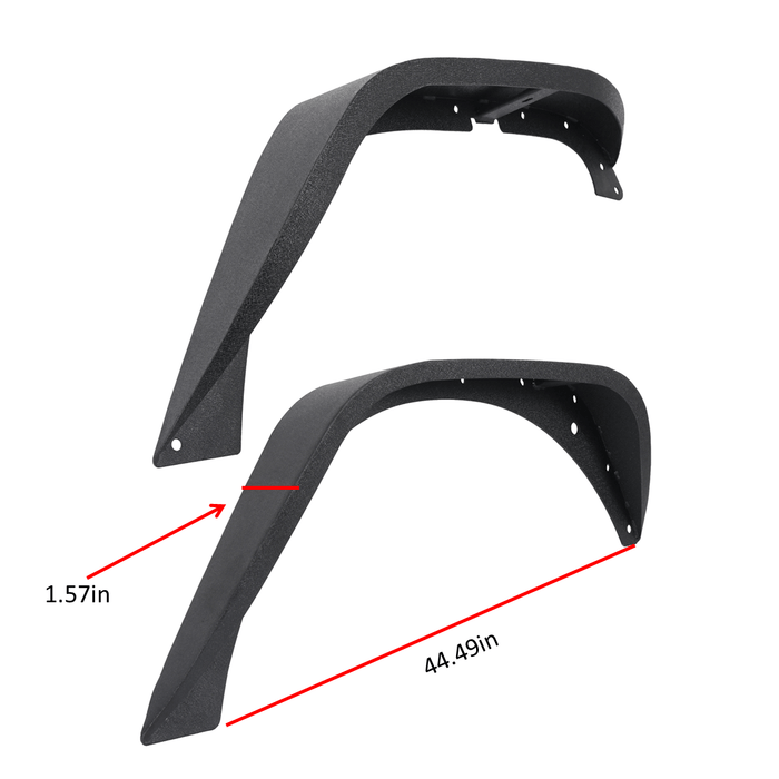 Hooke Road Jeep Wrangler JK Front And Rear Fender Flares for Jeep Wrangler JK 2007-2018 BXG134 u-Box offroad 8