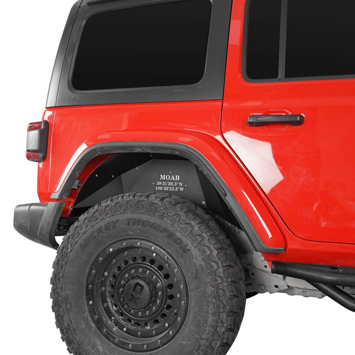 Hooke Road® Front & Rear Inner Fender Liners For 2018-2020 Jeep Wrangler JL BXG519520 10