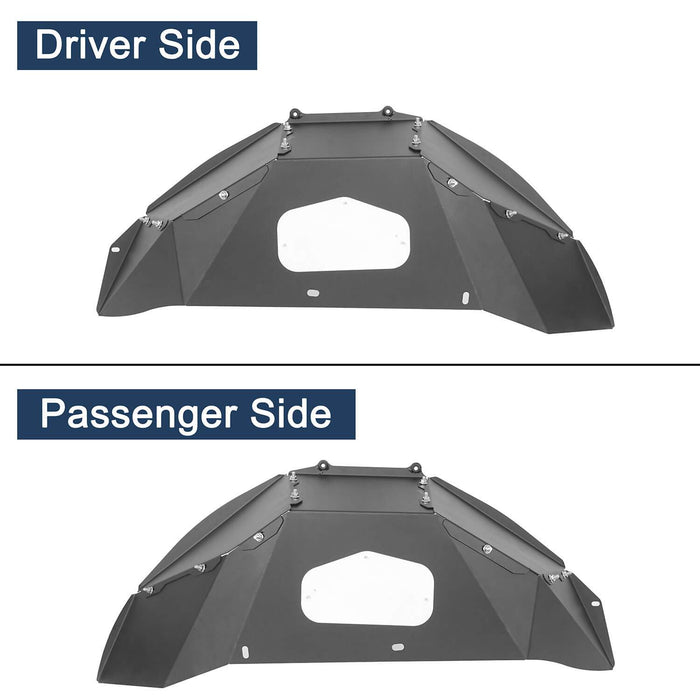 Hooke Road® Front & Rear Inner Fender Liners For 2018-2020 Jeep Wrangler JL BXG519520 12