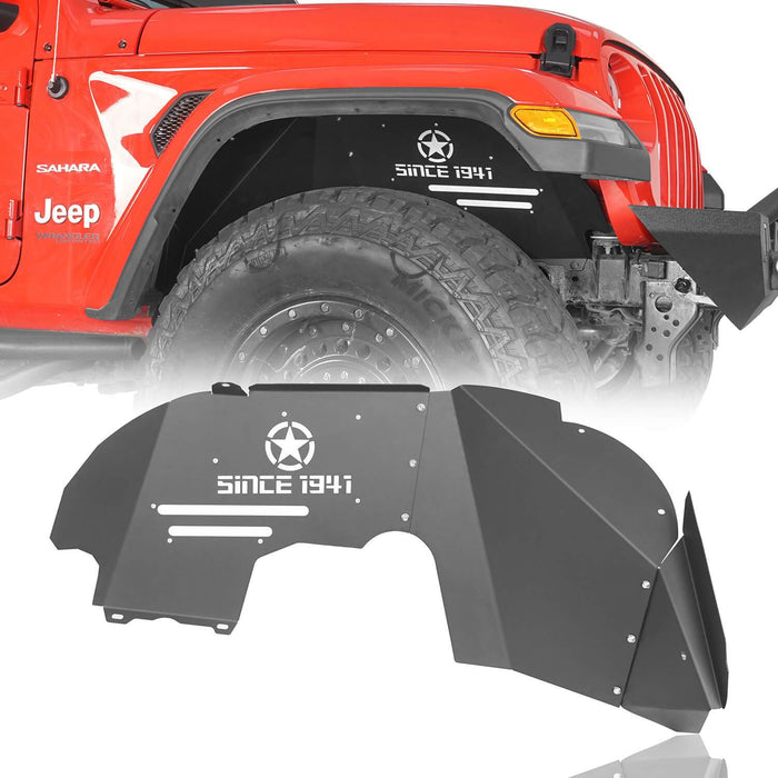 Hooke Road® Front & Rear Inner Fender Liners For 2018-2020 Jeep Wrangler JL BXG519520 3