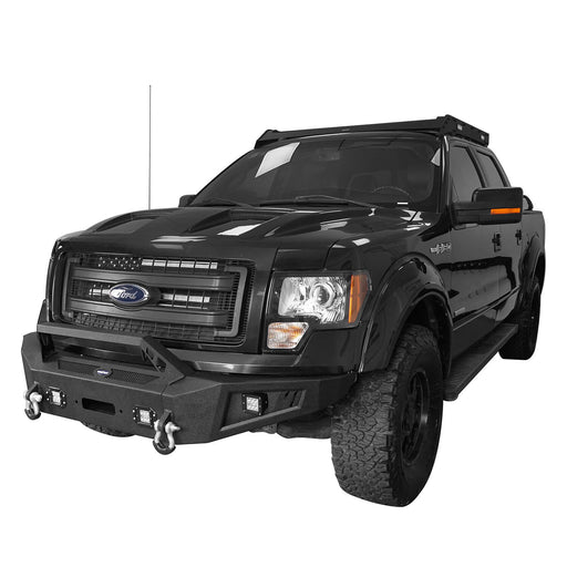 Hooke Road Full Width Front Bumper with Angled Hoop(09-14 Ford F-150,Excluding Raptor)