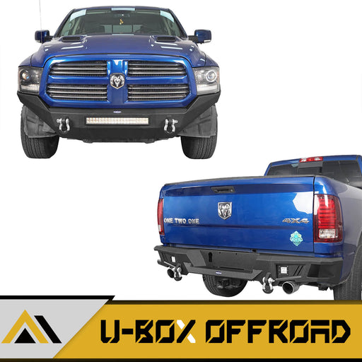 Front Bumper & Rear Bumper(13-18 Dodge Ram 1500, Excluding Rebel)
