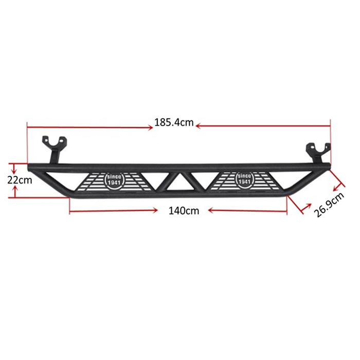 Hooke Road® Front Bumper, Rear Bumper, Side Steps(07-18 Jeep Wrangler JK)