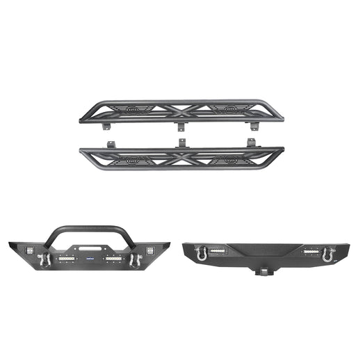 Hooke Road® Front Bumper , Rear Bumper , Side Steps(18-21 Jeep Wrangler JL)