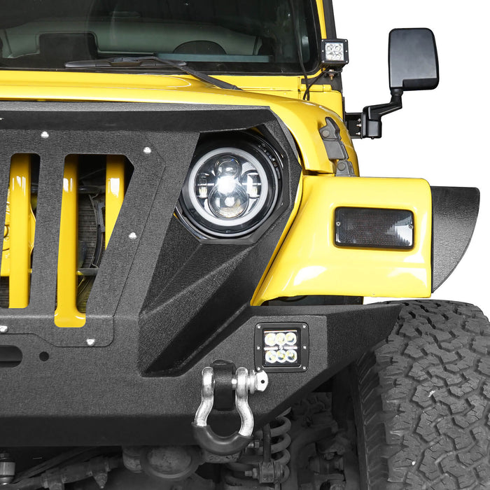 Hooke Road Opar Front Bumper with 2 D-Rings & Winch Plate for 1997-2006 TJ BXG172 u-Box Offroad 6