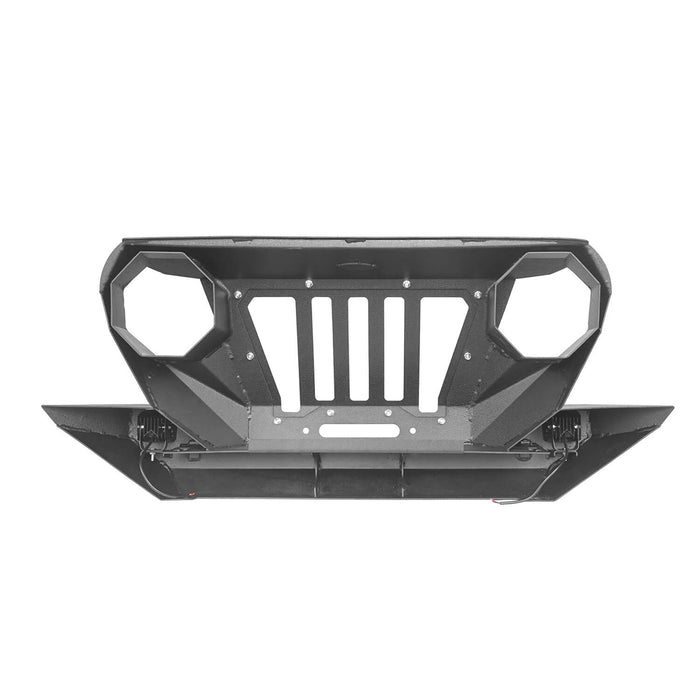 Hooke Road Opar Front Bumper with 2 D-Rings & Winch Plate for 1997-2006 TJ BXG172 u-Box Offroad 8