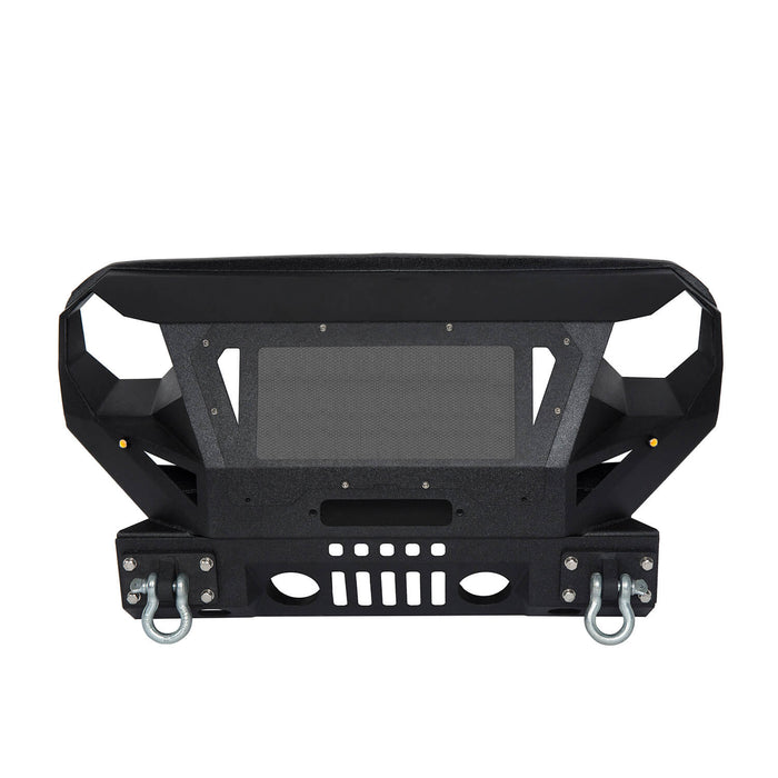 Hooke Road Bumper Front Bumper with Grill Guard and Winch Plate for Jeep Wrangler JK 2007-2018 BXG112 u-Box Offroad 7