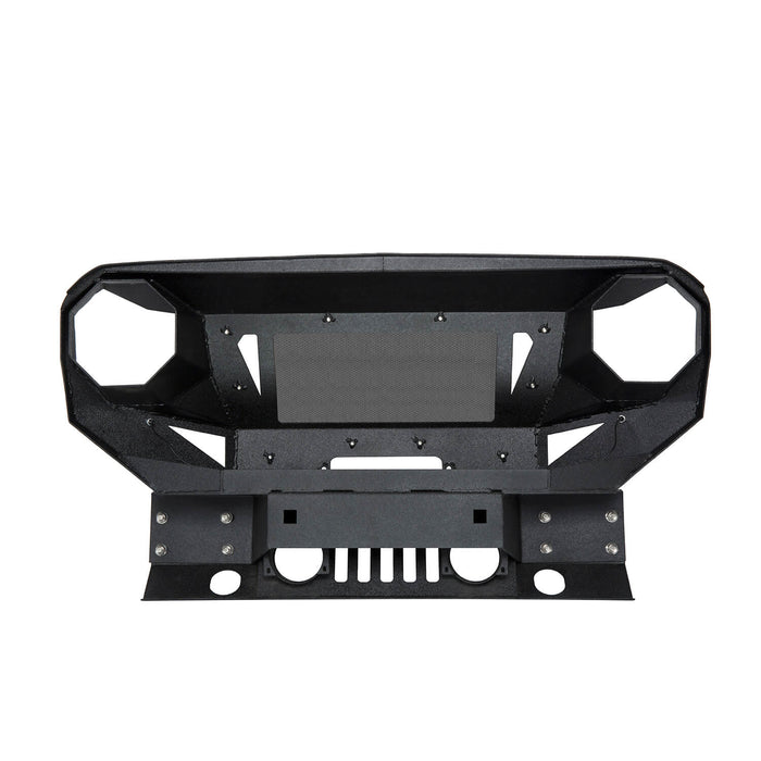 Hooke Road Bumper Front Bumper with Grill Guard and Winch Plate for Jeep Wrangler JK 2007-2018 BXG112 u-Box Offroad 9