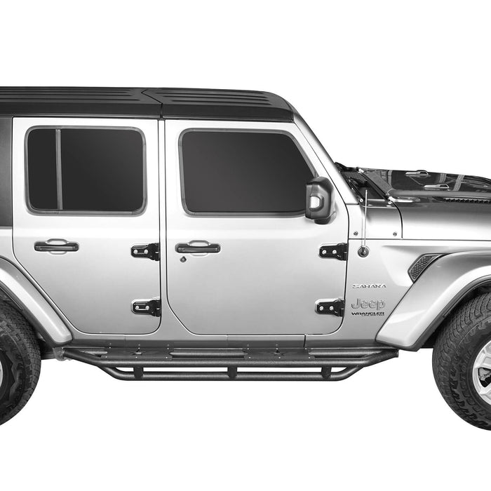 Hooke Road® Full Width Front Bumper with Mad Max Grill & Running Boards(18-20 Jeep Wrangler JL 4 Door)