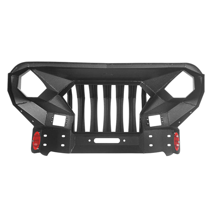 Full Width Front Bumper with Mad Max Grill & Running Boards(18-21 Jeep Wrangler JL 4 Door)