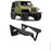 Hooke Road Opar Front Flat Fender Flares Armor Wheel for 1997-2006 Jeep Wrangler TJ 2 PCS BXG058 u-Box Offroad 2