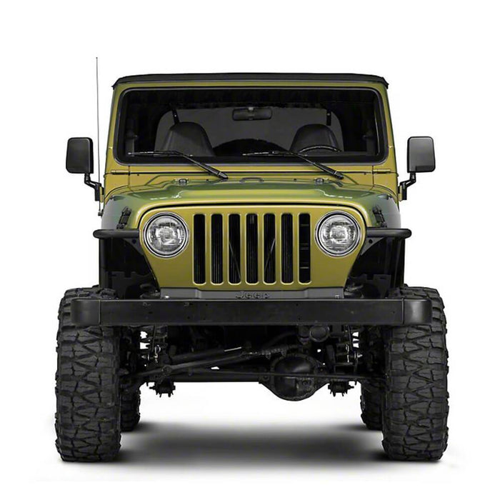 Hooke Road Opar Front Flat Fender Flares Armor Wheel for 1997-2006 Jeep Wrangler TJ 2 PCS BXG058 u-Box Offroad 4