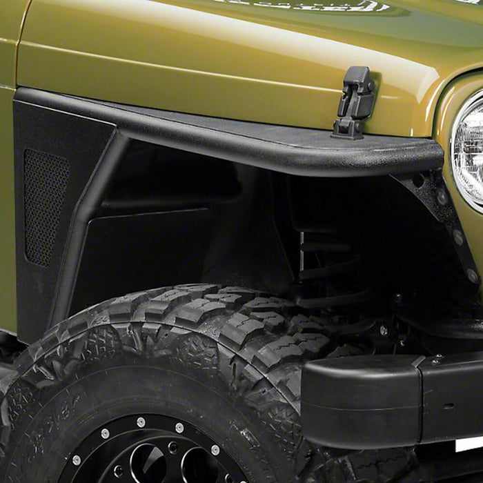 Hooke Road Opar Front Flat Fender Flares Armor Wheel for 1997-2006 Jeep Wrangler TJ 2 PCS BXG058 u-Box Offroad 6