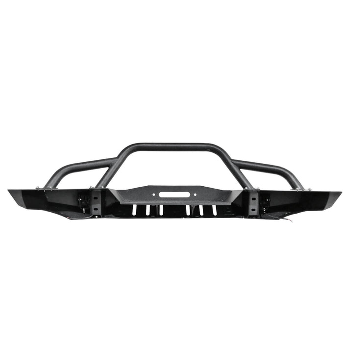 Hooke Road Destroyer Full Width Front Bumper w/2 ×18W LED Spotlights for Jeep Cherokee XJ 1984-2001 BXG320 u-Box Offroad 10