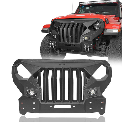 Hooke Road® Stubby Mad Max Front Bumper w/Winch plate(20-21 Jeep Gladiator JT)
