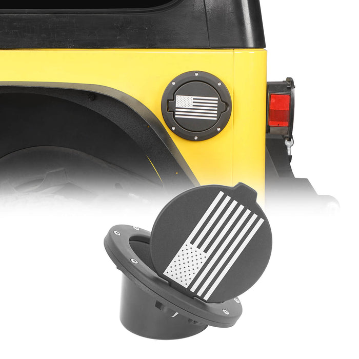 Hooke Road Jeep TJ Gas Cap Fuel Tank Cover for 1997-2006 Jeep Wrangler TJ Jeep TJ Parts MMR2002 u-Box offroad 2