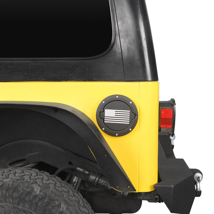 Hooke Road Jeep TJ Gas Cap Fuel Tank Cover for 1997-2006 Jeep Wrangler TJ Jeep TJ Parts MMR2002 u-Box offroad 3