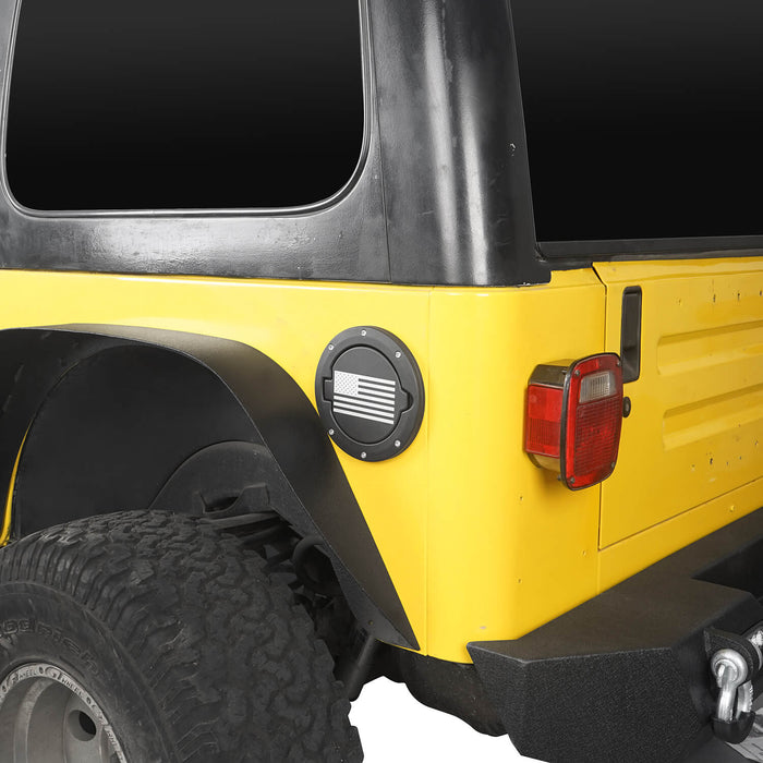 Hooke Road Jeep TJ Gas Cap Fuel Tank Cover for 1997-2006 Jeep Wrangler TJ Jeep TJ Parts MMR2002 u-Box offroad 4