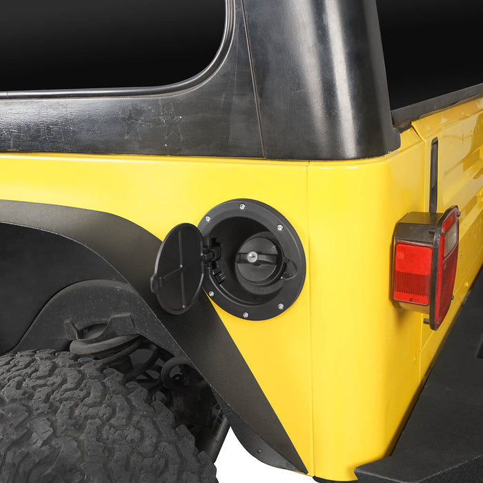 Hooke Road Jeep TJ Gas Cap Fuel Tank Cover for 1997-2006 Jeep Wrangler TJ Jeep TJ Parts MMR2002 u-Box offroad 5