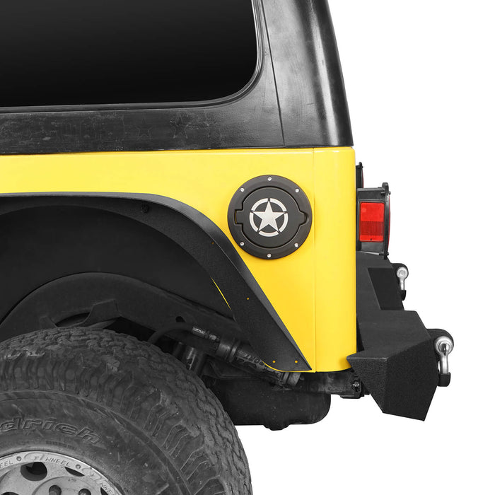Hooke Road Jeep TJ & LJ Gas Cap Fuel Tank Cover for 1997-2006 Jeep Wrangler TJ & LJ Jeep TJ Parts MMR2001 u-Box offroad 3