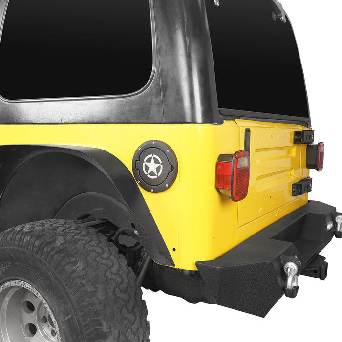 Hooke Road Jeep TJ & LJ Gas Cap Fuel Tank Cover for 1997-2006 Jeep Wrangler TJ & LJ Jeep TJ Parts MMR2001 u-Box offroad 4