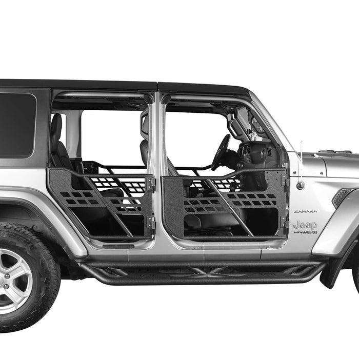 Hooke Road Half Door, Side Mirrors, Door Rack Door Cart(18-21 Jeep Wrangler JL)
