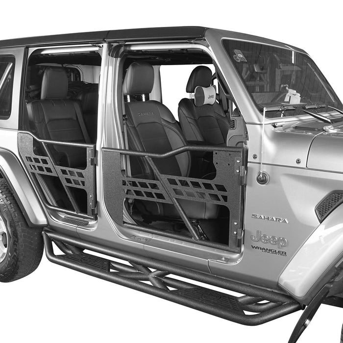 4 Door Tubular Door & Side Steps(18-21 Jeep Wrangler JL)
