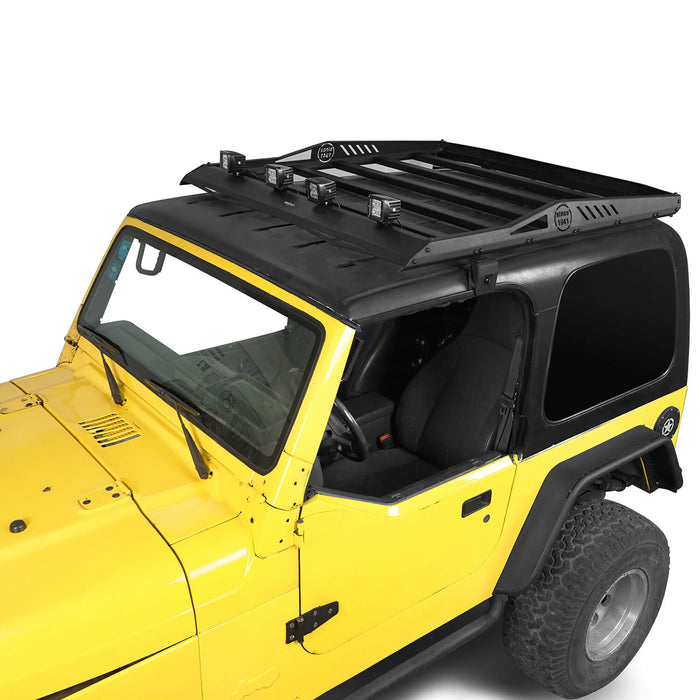 Hooke Road® Hardtop Roof Rack Luggage Carrier Rack Backbone System(97-06 Jeep Wrangler TJ Hardtop )