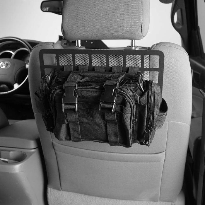 Hooke Road® Headrest MOLLE Storage Panel Metal Shelf(05-20 Toyota Tacoma 2nd & 3rd Gen)