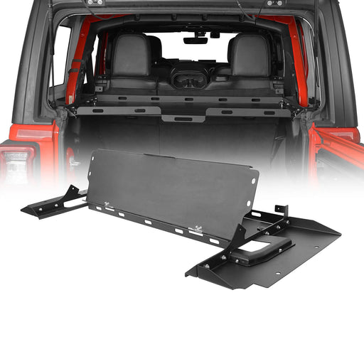 Hooke Road® Interior Fold-Up Storage Rack Cargo Rack(18-20 Jeep Wrangler JL 4 Doors Hardtop)