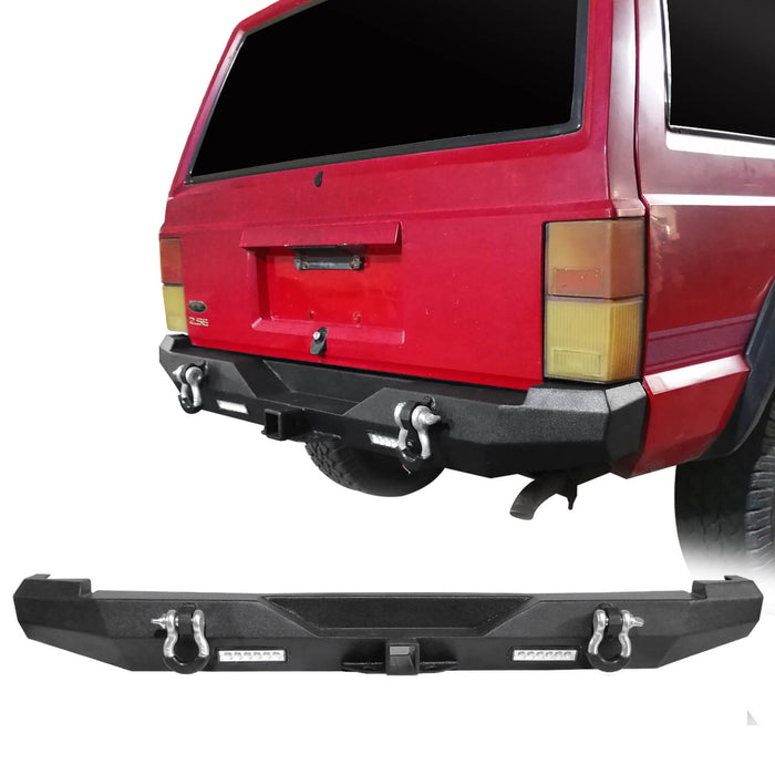 Hooke Road Destroyer Rear Bumper w/2 ×18W LED Floodlights for Jeep Cherokee XJ 1984-2001 BXG321 u-Box Offroad 2