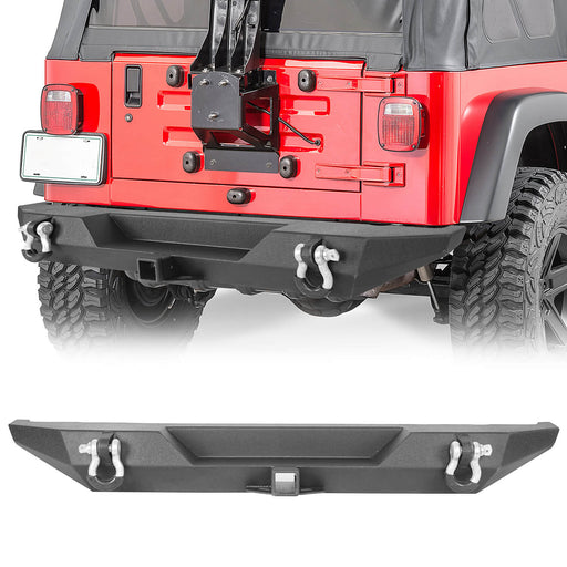 Hooke Road® Rear Bumper Back Bumper(76-86 Jeep Wrangler CJ-7)