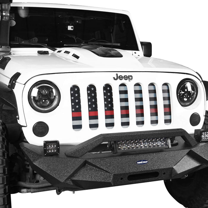 Jeep Grill Mesh Insert American Flag Old Glory Insert For 07 18 Jeep