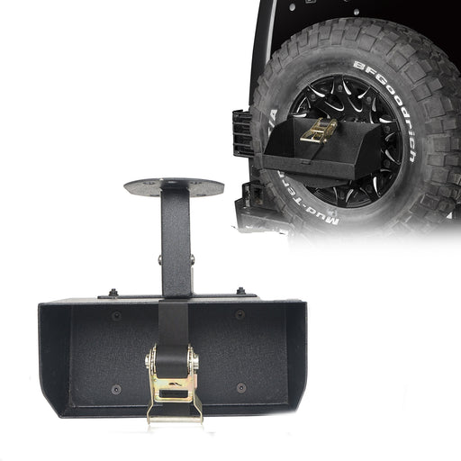 Hooke Road Jeep Jerry Can Holder Spare Tire Mounting Bracket for Jeep Wrangle TJ JK JL 1997-2019 MMR3002 Jeep Accessories Bumper Accessories u-Box Offroad 2