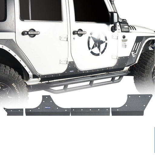 Hooke Road Jeep JK Body Armor Cladding for 2007-2018 Jeep Wrangler JK 4 Door BXG213 u-Box Offroad 2