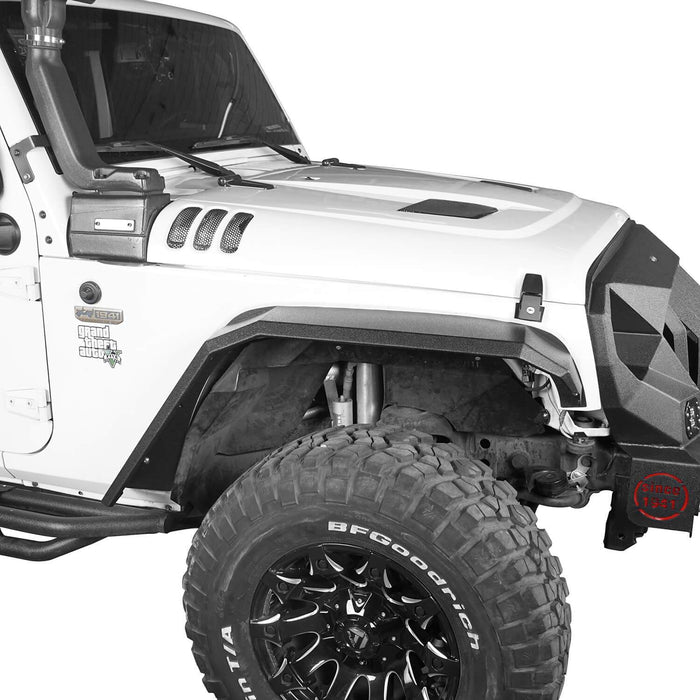 Hooke Road Jeep JK Front Rear Inner Fender Liners Flat Fender Flares for Jeep Wrangler JK 2007-2018 BXG007BXG223MMR1760 Jeep Exterior Parts Jeep JK Accessories u-Box offroad 4