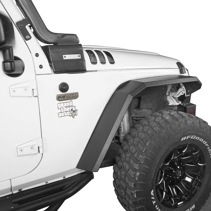 Hooke Road Jeep JK Front Rear Inner Fender Liners Flat Fender Flares for Jeep Wrangler JK 2007-2018 BXG007BXG223MMR1760 Jeep Exterior Parts Jeep JK Accessories u-Box offroad 5