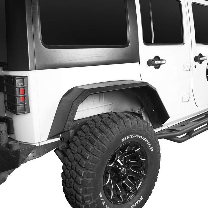 Hooke Road Jeep JK Front Rear Inner Fender Liners Flat Fender Flares for Jeep Wrangler JK 2007-2018 BXG007BXG223MMR1760 Jeep Exterior Parts Jeep JK Accessories u-Box offroad 6