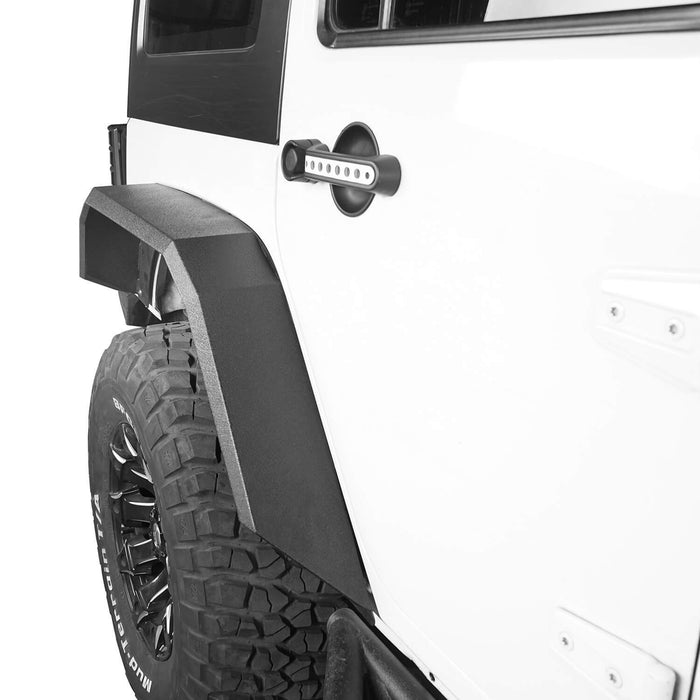 Hooke Road Jeep JK Front Rear Inner Fender Liners Flat Fender Flares for Jeep Wrangler JK 2007-2018 BXG007BXG223MMR1760 Jeep Exterior Parts Jeep JK Accessories u-Box offroad 7