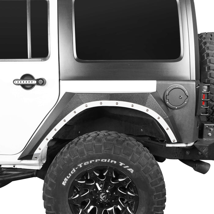 Hooke Road Jeep JK Fender Flares Armour Style for Jeep Wrangler JK 2007-2018 BXG218 u-Box offroad 5