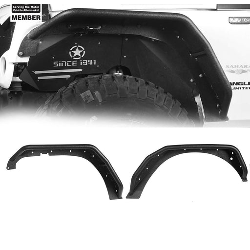 Hooke Road Jeep JK Flux Tubular Fender Flares & Inner Fender Liners for Jeep Wrangler JK 2007-2018 Jeep JK Metal Fenders Jeep JK Accessories  BXG089MMR1760BXG223 u-Box offroad  4