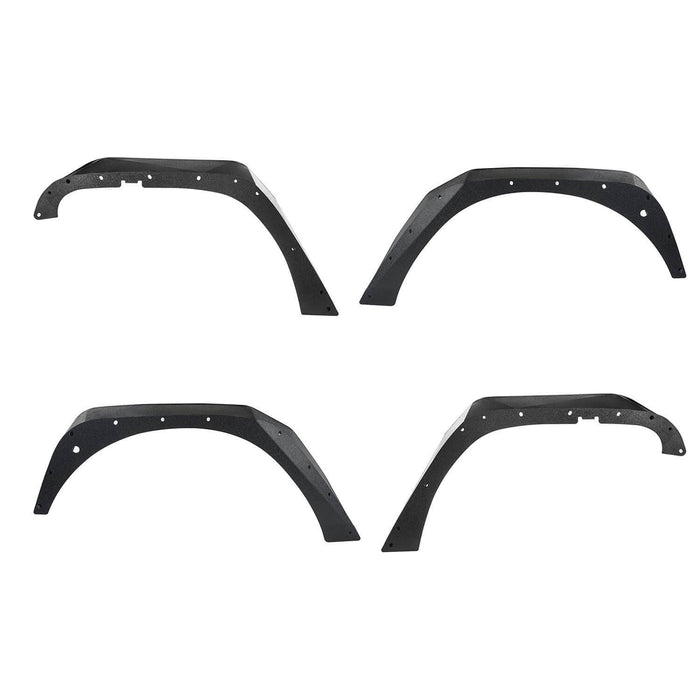 Hooke Road Jeep JK Flux Tubular Fender Flares & Inner Fender Liners for Jeep Wrangler JK 2007-2018 Jeep JK Metal Fenders Jeep JK Accessories  BXG089MMR1760BXG223 u-Box offroad 8