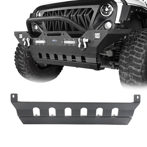 Hooke Road Jeep JK Front Skid Plate Textured Black Steel for Jeep Wrangler JK 2007-2018 BXG204 u-Box offroad 2