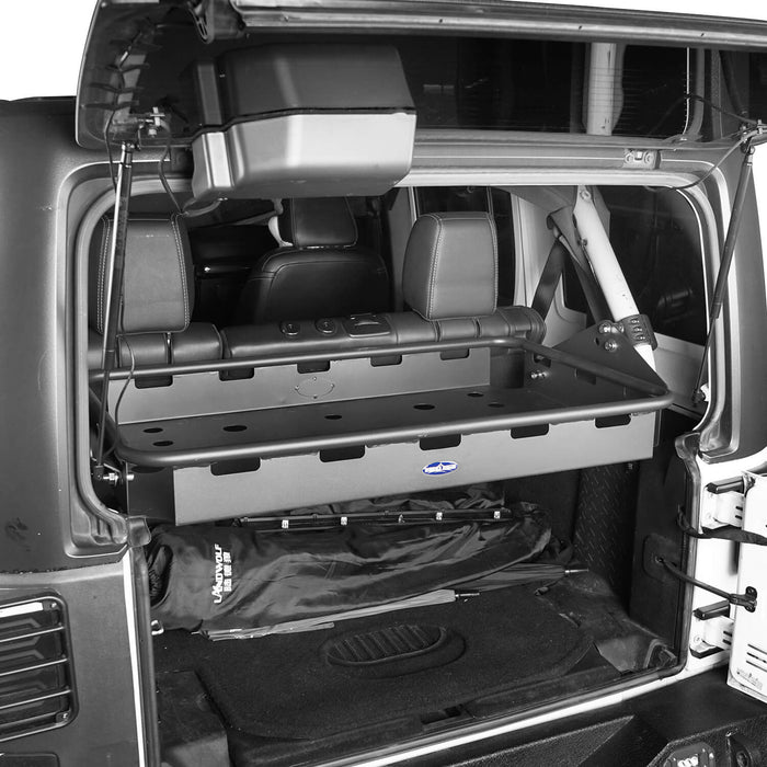 Hooke Road Jeep JK Rear Cargo Rack 4 Doors for Jeep Wrangler JK JKU 2007-2018 BXG124 u-Box offroad 5