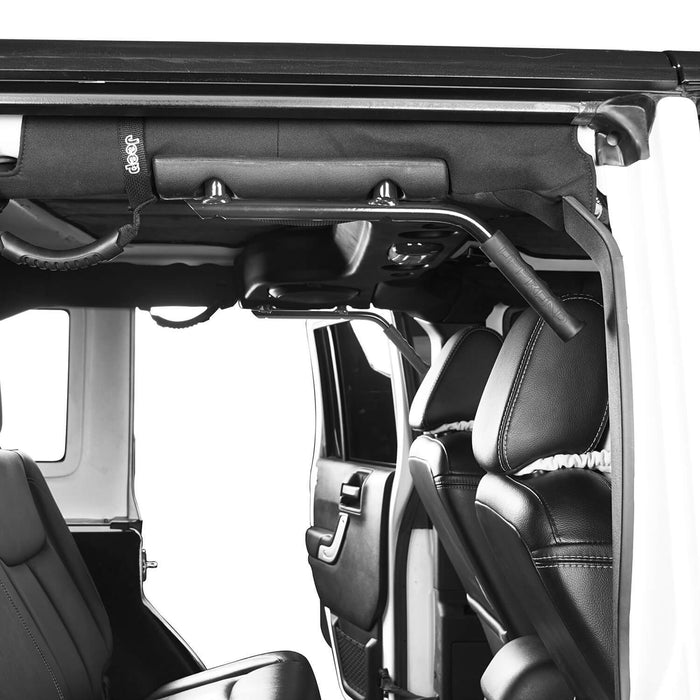 Hooke Road Jeep JK Rear Grab Handles w/Black Grips for Jeep Wrangler JK 2007-2018 MMR1821 u-Box Offroad 3