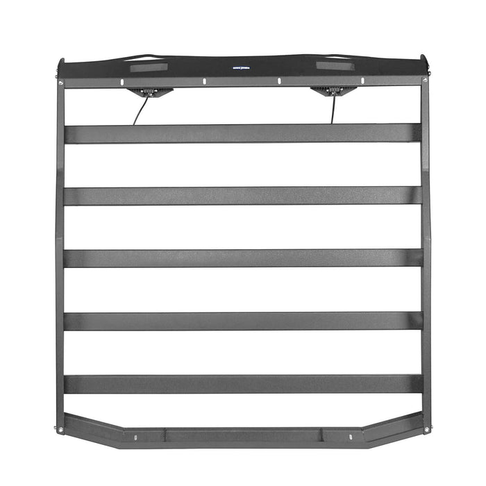 Hooke Road Jeep JK Roof Rack Cargo Carrier Rack Luggage Rack Storage Roof Rack for Jeep Wrangler JK 4 Doors 2007-2018 BXG203 Jeep Rack Jeep Accessories u-Box Offroad 9
