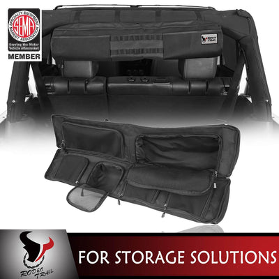 Rodeo Trail Jeep JK Roll Bar Mount Storage Bag Organizer for 2007-2020 Jeep Wrangler JK JL MMR20067 1