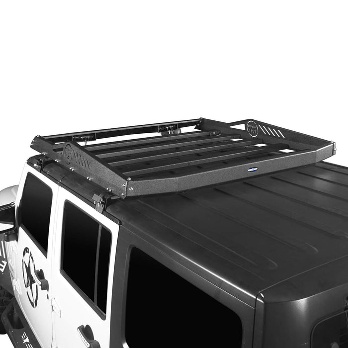 Hooke Road Jeep JK Roof Rack Cargo Carrier Rack Luggage Rack Storage Roof Rack for Jeep Wrangler JK 4 Doors 2007-2018 BXG212 Jeep Rack Jeep Accessories u-Box Offroad 6