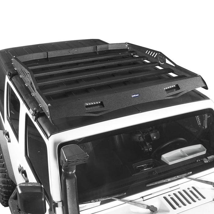 Hooke Road Jeep JK Roof Rack Cargo Carrier Rack Luggage Rack Storage Roof Rack for Jeep Wrangler JK 4 Doors 2007-2018 BXG212 Jeep Rack Jeep Accessories u-Box Offroad 5