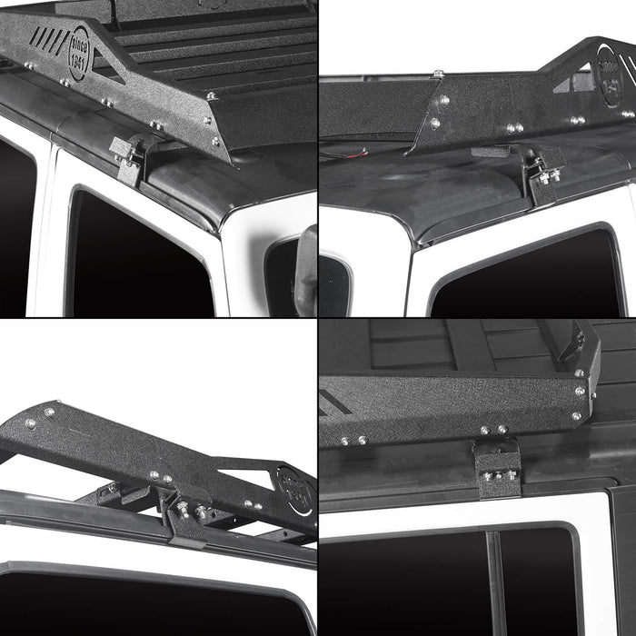 Hooke Road Jeep JK Roof Rack Cargo Carrier Rack Luggage Rack Storage Roof Rack for Jeep Wrangler JK 4 Doors 2007-2018 BXG212 Jeep Rack Jeep Accessories u-Box Offroad 7